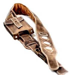 Distressed Leather Guitar Strap