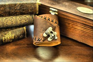 Steampunk Industrial Leather Cuff