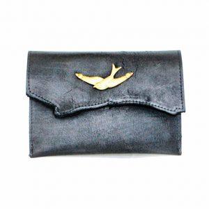 Bird Leather Clutch