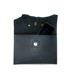 Raw Edge Leather Clutch
