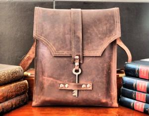 Burgundy Leather Messenger