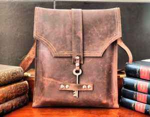 Burgundy Leather Messenger