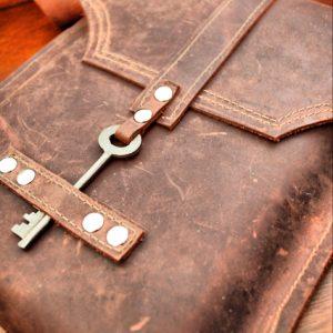 Oxblood Leather Messenger