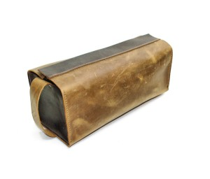 Two Tone Leather Toiletry Case