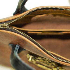 Two Tone Leather Handbag