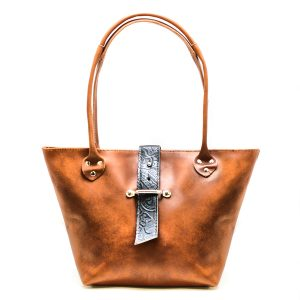 Black and Tan Tote Bag