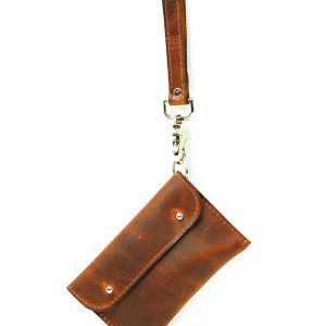 leather phone wristlet