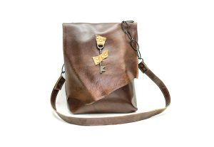 Raw Edge Messenger Bag