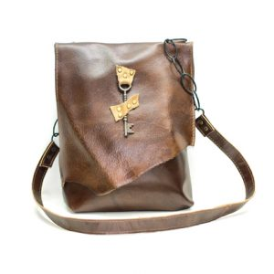 Raw Edge Messenger Bag