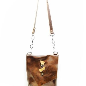 Messenger Bag with Chandelier Chain Strap