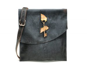 Raw Edge Leather Bag