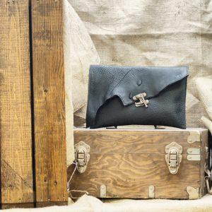 Raw Edge Leather Purse