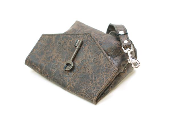 Leather Makeup Bag Clutch