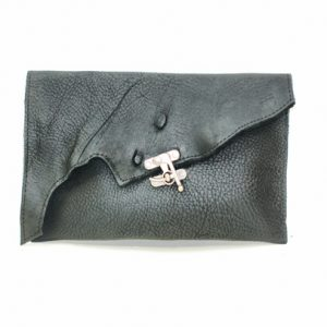 Swing Clasp Leather Bag