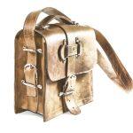 Distressed Leather Satchel