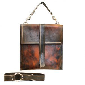 Leather Briefcase Schoolbag
