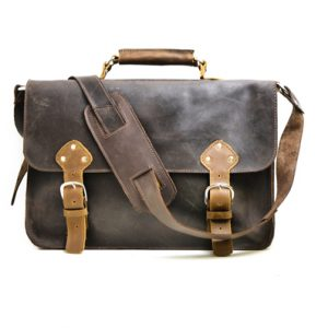 Leather Messenger Bag with Lifetime Guarantee