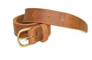 Cognac Leather Belt