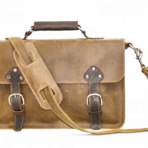 Distressed Leather Briefcase