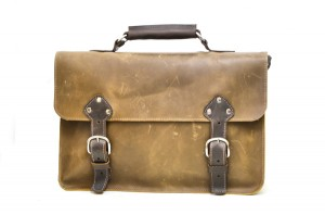 Leather Hold-All Murse