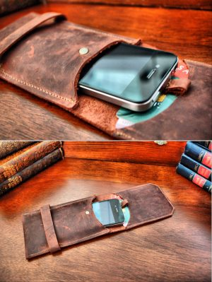 Madison Leather Pop-Up Phone Case and Card Wallet for Smartphones and iPhones