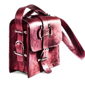 Burgundy Leather Satchel