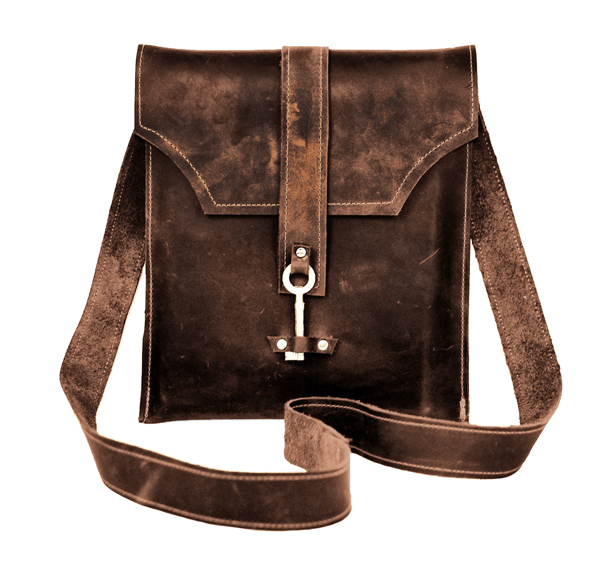 Chocolate Brown Leather Messenger