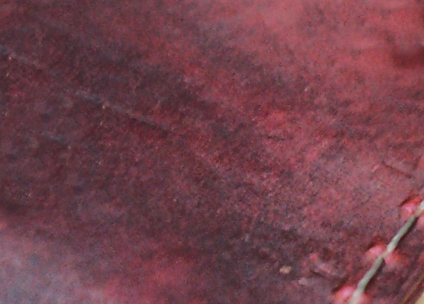 hand dyed burgundy
