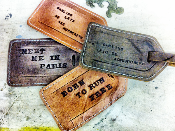 Personalized Leather Luggage Tags