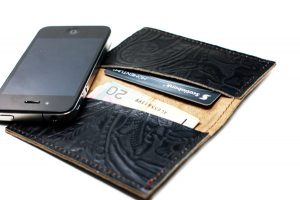 Leather Mens Simple Fold Wallet Card Holder