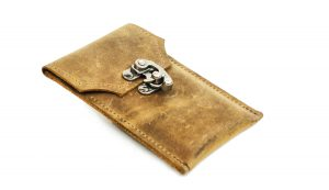 Leather iPhone Sleeve - Smart Phone Leather Case - Distressed Leather Steampunk Phone Sleeve