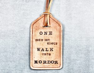 Quote Leather Bookmark
